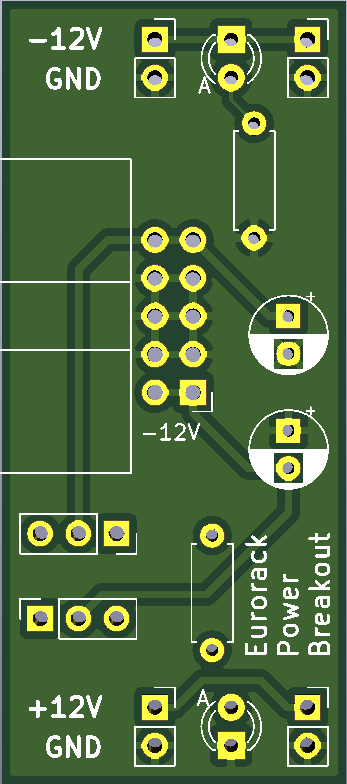 Rendering of front of breakout board PCB design
